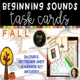 Beginning Sounds Fall Task Cards