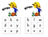 Fall Beginning Sounds Letter Bingo