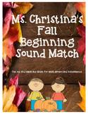 Fall Beginning Sounds Match