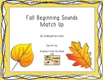 Fall Beginning Sounds Match Up