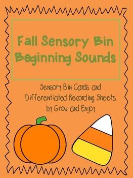 Fall Beginning Sounds Sensory Bin