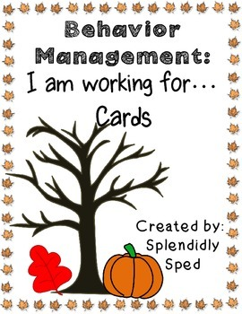 Fall Behavior Management-I am working for Cards