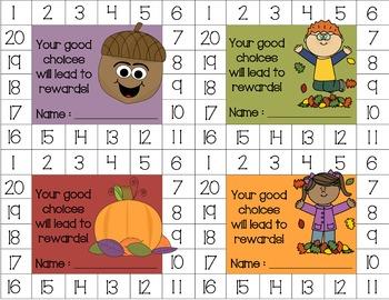 Fall Behavior Punch Card