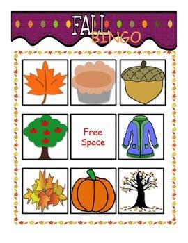 Fall Bingo!