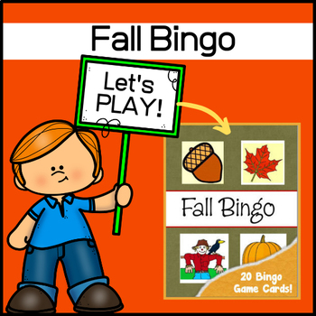 Fall Bingo Set - Autumn Vocabulary!