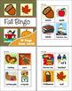 Fall Bingo Set - Autumn Vocabulary!