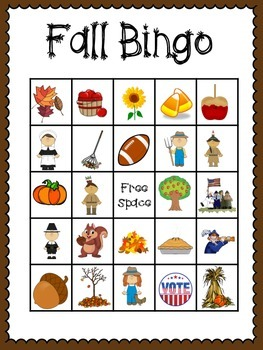 Fall Bingo (30 different cards & calling cards included!)