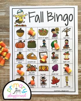 Fan image in fall bingo printable
