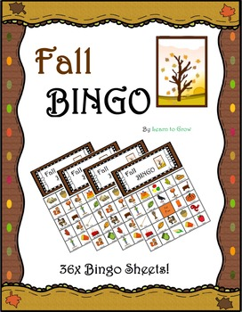 Fall Bingo!! (36 Bingo Sheets!)