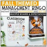 Distance Learning | Fall Classroom Management Bingo | Game | Plan | Digital