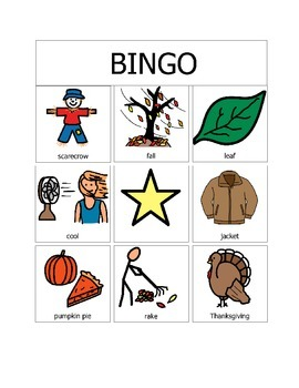 Fall Bingo (9 Squares)