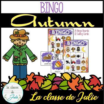 Fall Bingo - Autumn Bingo Game