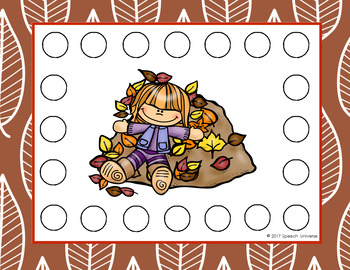 Fall Bingo Chip Mats