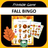 FALL BINGO GAME Two Designs + Options for Distance Learnin