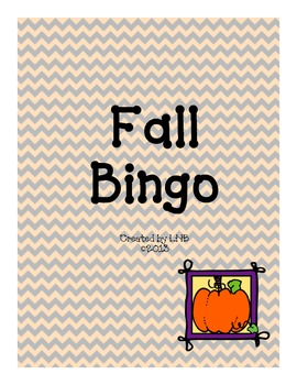 Fall Bingo {Fun fall game!}