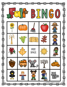 image about Fall Bingo Printable titled Slide Bingo Activity