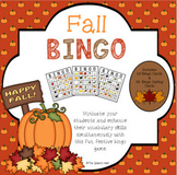 Fall Bingo Game with Riddles - A Vocabulary Building Activity