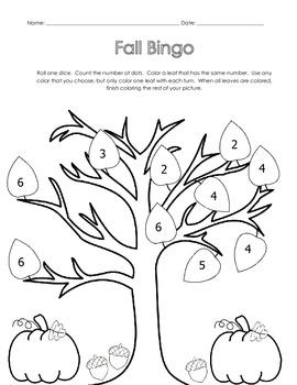 Fall Bingo Games