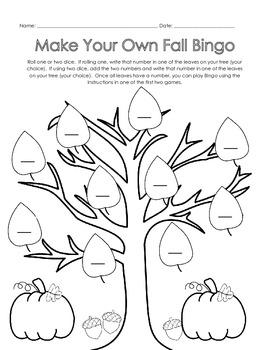 Fall Bingo Games