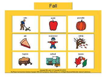 Fall Bingo! Multiple Boards [speech therapy and autism]
