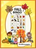 Fall Bingo Special Education Activity, Printable BINGO Games P-K, K, Special Edu