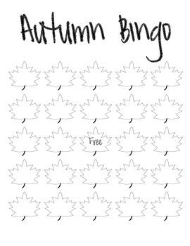 Fall Bingo Templates