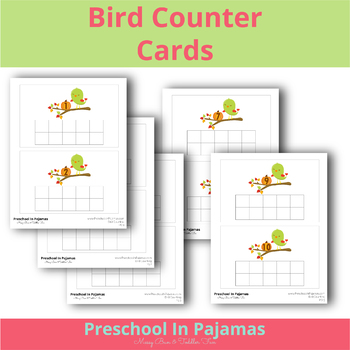Fall Bird Counter Card Set