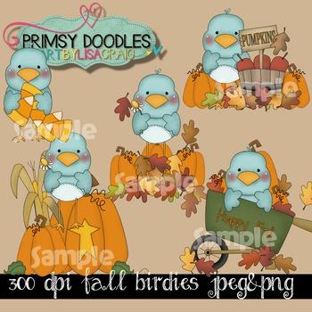 Fall Birdies '15 Clipart