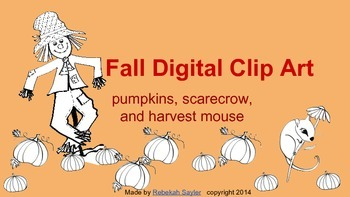 Fall Black and White Clip Art