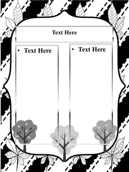 Fall - Black and White - Editable Powerpoint template