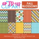 Fall Blossoms Digital Papers