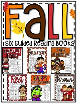 Fall Easy Reader Guided Reading Books **Six Bundle Set**