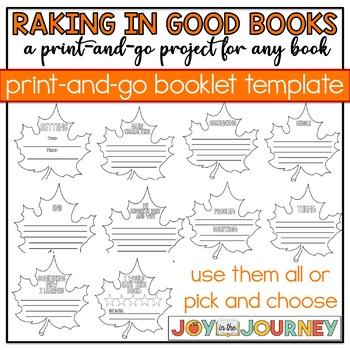 Fall Book Project for ANY Book: Raking in Good Books