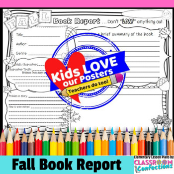 Fall reading activity fall book report template by elementary fall reading activity fall book report template pronofoot35fo Image collections