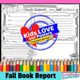 Fall Reading Activity: Fall Book Report Template