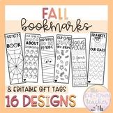 Fall Bookmarks & Editable Gift Tags