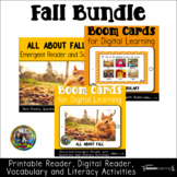 Fall Boom Card Bundle First and Second Grade Distance Learning