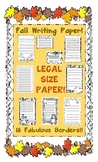 Fall Bordered Lined Writing Paper