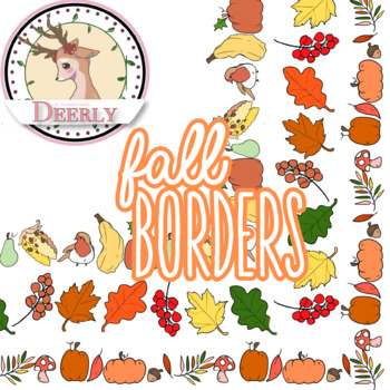 Fall Borders! (Deerly Clipart)