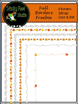 Fall Borders Freebie - Color & BW