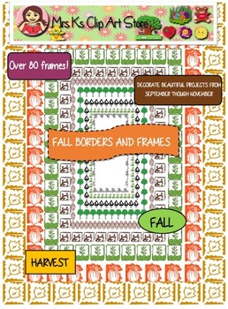 Fall Borders and Frames