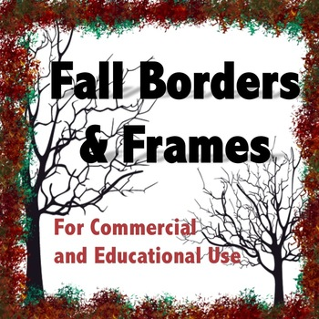 Fall Borders and Frames for Commercial and Educational Use