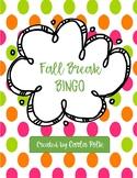 Fall Break Bingo