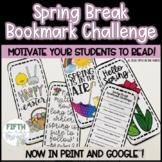 Spring Break Bookmark Challenge for Reading