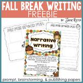 Fall Break Common Core Writing FREEBIE
