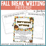 Fall Break Common Core Writing {FREEBIE}