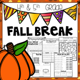 Fall Break Packet - Fourth and Fifth Grade