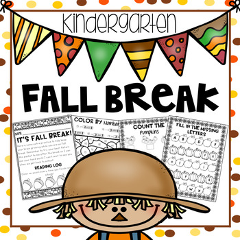 Fall Break Packet - Kindergarten