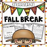 Fall Break Packet - Kindergarten