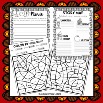 Fall Break Packet - Third Grade